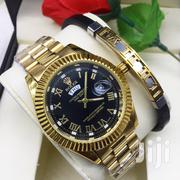 Gold Watch With Free Bracelet | Watches for sale in Dar es Salaam, Kinondoni