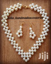 Simple Pearl Necklace With Matching Earrings | Jewelry for sale in Dar es Salaam, Kinondoni